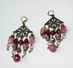 Oriental earrings by Ashentara, Manu Roue of France.