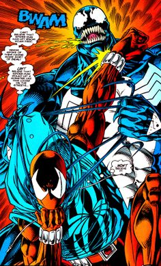 "Scarlet Spider vs. Venom by Tom Lyle & Howard Mackie - ""Can't believe that Spider-Man has let Venom roam free."""