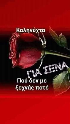 Good Night Flowers, Greek Quotes, Good Morning, The Good Place, Feelings, Amazing Places, Greeting Cards, Decor, Living Alone