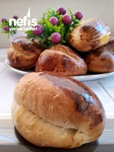 No Bake Cake, Baked Potato, Hamburger, Bread, Cookies, Baking, Ethnic Recipes, Food, Turkish Cuisine