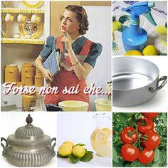 Spruzzino all'aceto sgrassatore: sciogliete 10 gocce di olio essenziale di limone (facilmente reperibile nelle erboristerie) in 50 ml di ace...