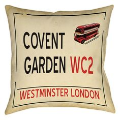 Covent Garden Printed Throw Pillow