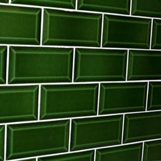 We Just Love This Bold Emerald Beveled Subway Tile How Fun And
