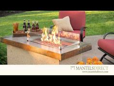 Outdoor Fireplaces | Outdoor Fireplace Kits | MantelsDirect.com - YouTube