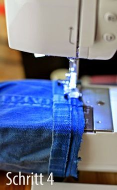 Shorten trousers with original hem - Nähen - Easy Sewing Quilting For Beginners, Sewing Projects For Beginners, Quilting Tutorials, Sewing Tutorials, Sewing Tips, Sewing Ideas, Buy Fabric, Fabric Scraps, Flannel Rag Quilts