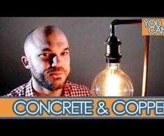 El cobre industrial y la lámpara de hormigón