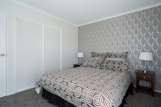 Feature Wallpaper | Neutral Colours | Bedroom | Master Bedroom Neutral Colors, Colours, Feature Wallpaper, Bedroom Inspiration, Master Bedroom, Furniture, Design, Home Decor, Master Suite