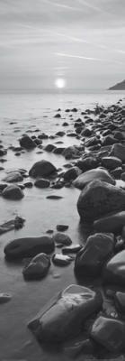 Bossington Beach at Sunrise, Porlock Weir, Dorset  Artist: Adam Burton