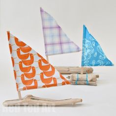 Driftwood Sail Boats - we LOVED making these. Surprisingly quick and easy to do!