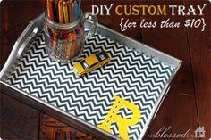 DIY Custom Tray {For Under $10!} | MyBlessedLife.net