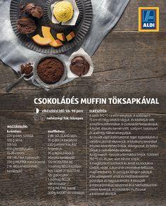 Csokoládés muffin töksapkával - desszert recept az ALDI-tól Izu, Muffin, Muffins, Cupcakes