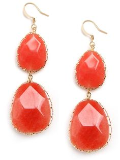 Tangerine Boho Drops from @BaubleBar-pair with seafoam green dress. Perfect!
