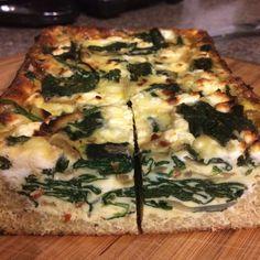 Spinach and Feta Quinoa Crust Quiche