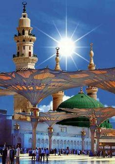Masjid al Nabawi, Madinah Masjid Al Nabawi, Masjid Haram, Mecca Masjid, Islamic Images, Islamic Pictures, Medina Mosque, Mecca Wallpaper, Mekkah, Beautiful Mosques
