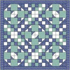 I've made the Cedars of Lebanon quilt using 2 different blocks which together make a delightful quilt. Easy quilt pattern with video included