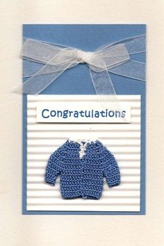 Baby Blue Sweater Cards  Turkey - This card set is hand-crafted by artisans engaged in the traditional craft of dantel (crocheting). The production of this card nurtures self-esteem and dignity in the artisan women of Turkey. By purchasing this card, you are supporting low-income communities in Turkey who live under the constant threat of poverty and unemployment.