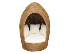 This impressive Egg Chair is hand woven from rattan and comes complete with seat and scatter cushions. This piece is sure to bring the wow factor into any living space and makes the perfect place to snuggle up, relax and read a book.    *This is a Limited Edition piece. Each product is handmade and will vary slightly in design and shape.