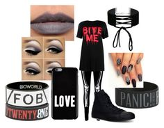 """""""Emo Halloween"""" by alluringalfred ❤ liked on Polyvore featuring Boohoo, Converse, Miss Selfridge and Givenchy"""