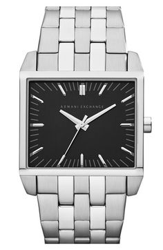 AX+Armani+Exchange+Rectangular+Bracelet+Watch,+38mm+x+32mm+available+at+#Nordstrom
