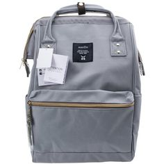 Anello Official Grey Japan Unisex Fashion Backpack Rucksack Diaper Travel  Bag in Clothing a33bb4aefa5b7