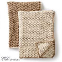 Caron Crochet Texture Lap Blanket, Crochet Pattern | Yarnspirations