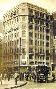Praça do Patriarca com Rua Líbero Badaró - anos 1920