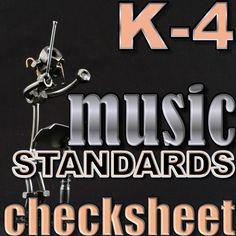 Music Standards Check sheet K-4 #music #musicteacher #elementarymusic #teaching #musicteacher #classical #classicalmusic #musicforkids #arkansasmusic #lessonplans #elementarymusiclesson #standards #musicstandards #todolistformusicteachers #arkansasmusicstandards