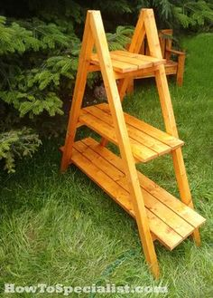 How to build an a-frame plant stand | HowToSpecialist - How to Build, Step by Step DIY Plans
