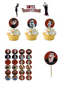 Hotel Transylvania Cupcake Picks Cupcake Cake Toppers 2 12 Assorted ...