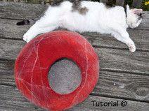 TOLLE FILZANLEITUNG für die runde Katzenhöhle