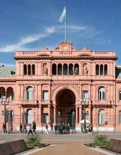 Casa Rosada- The official office of the President of Argentina, located next to Plaza de Mayo in Buenos Aires.