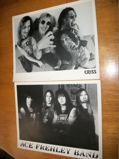 Kiss / Ace Frehley / Peter Criss / Two 8 x 10 Promo Press Photos / Ace Frehley Band / Criss #AceFrehley #PeterCriss #Kiss