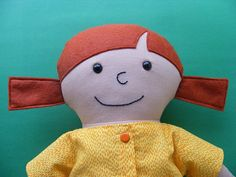 Tips on how to place a softie's eyes.  Poppy - a Dress Up Bunch rag doll pattern from Shiny Happy World.
