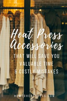 Here are 5 great heat press accessories which will benefit the beginner and professional alike. These accessories will help you produce quality products.