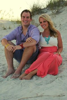 Couples beach pictures red pink white blue navy