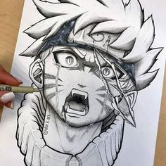 Naruto Drawing Images and Hey Everyone ! Another Original Drawing Of Naruto I Made A Anime Naruto, Naruto Art, Otaku Anime, Manga Anime, Naruto Uzumaki, Kakashi Drawing, Naruto Drawings, Anime Drawings Sketches, Anime Sketch