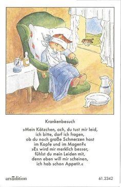 Fleißbildchen - Original Ida Bohatta - ars 61.2342 - Krankenbesuch ...
