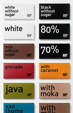 So many choices so little time! Chocolate packaging branding.
