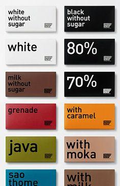 Chocolate packaging branding.