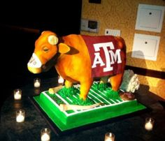 """""""A&M groom's cake with Bevo's horns sawed off"""" -- MidwestDrummer"""