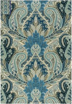 174883 Cambay Paisley Print Azure by Schumacher Fabric Paisley Fabric, Paisley Pattern, Pattern Art, Paisley Print, Blue Fabric, Textile Patterns, Textile Design, Print Patterns, Textiles