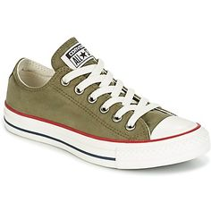 Baskets basses Converse CHUCK TAYLOR ALL STAR OMBRE WASH OX MEDIUM  OLIVE/GARNET/EGRET