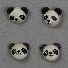 Panda træ 20mm - Træ - Knapper
