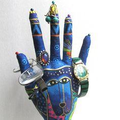 Laurel Burch Dogs n Doggies Fabric Hand Jewelry by pierrmorgan