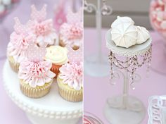 Ballerina cupcakes in a birthday candy buffet