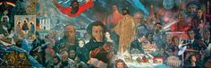 """Painting by Ilya Glazunov """"The contribution of the USSR peoples to world culture and civilization."""""""