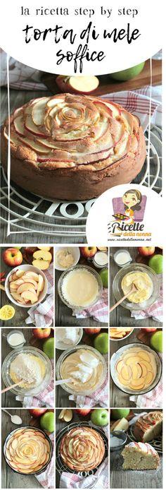 Torta di mele soffice, ricetta step by step su http://www.ricettedellanonna.net/