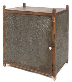 Pennsylvania pine hanging pie safe, 19th c., with : Lot 379.  Pook & Pook 12/10/13. $600