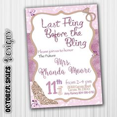 Last Fling Before the Bling Bachelorette by OctoberSkiesDesigns