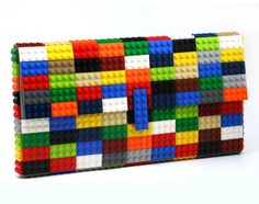 Multicolor clutch made entirely of LEGO bricks by agabag on Etsy Designer Inspired Handbags, Wholesale Designer Handbags, Cheap Designer Handbags, Fashion Handbags, Fashion Bags, Handbags Uk, Replica Handbags, Cheap Fashion, Colorful Fashion